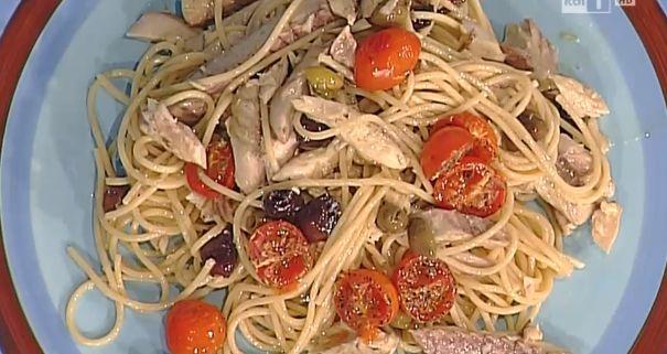 Ricette della salute, spaghetti integrali con sgombro olive e pomodorini di Marco Bianchi ❤️