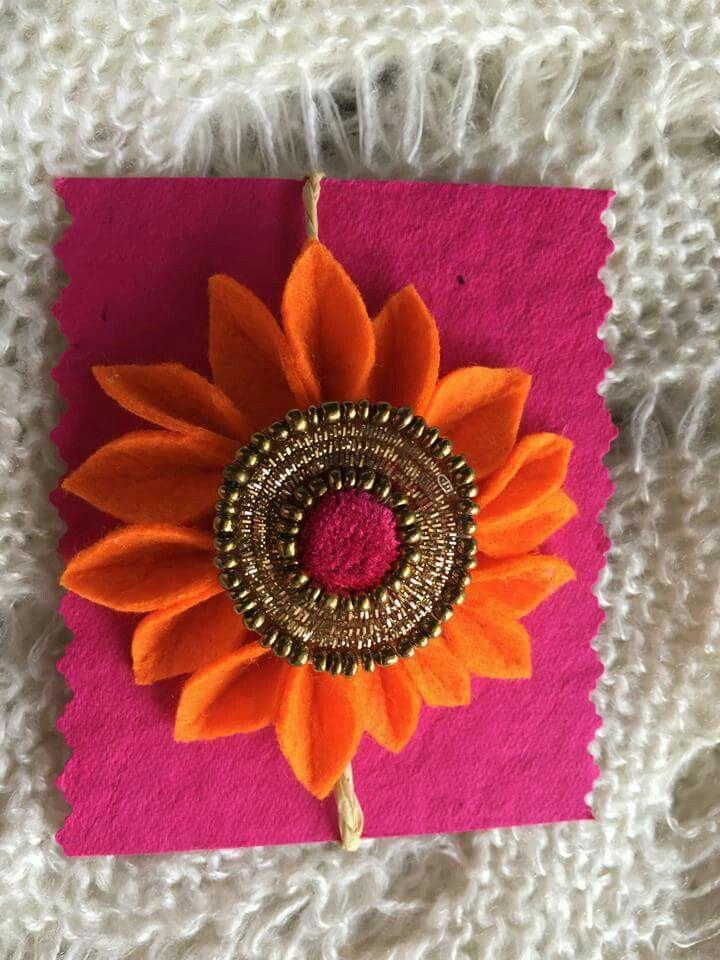 Floral handmade Rakhi