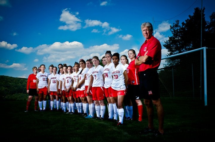 Tim Dempsey is the MU Women's Soccer Head Coach and is now entering his 10th season. This team photo was taken in 2012. Click on Tim's picture for more on his bio and contact information.