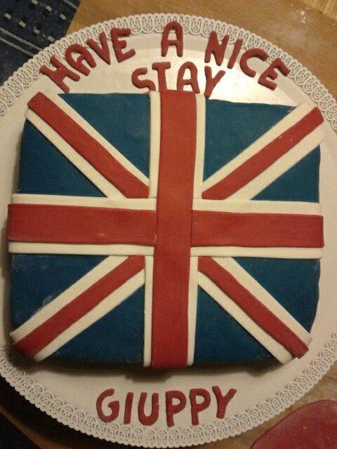 La torta perfetta per il tema della festa:Inghilterra