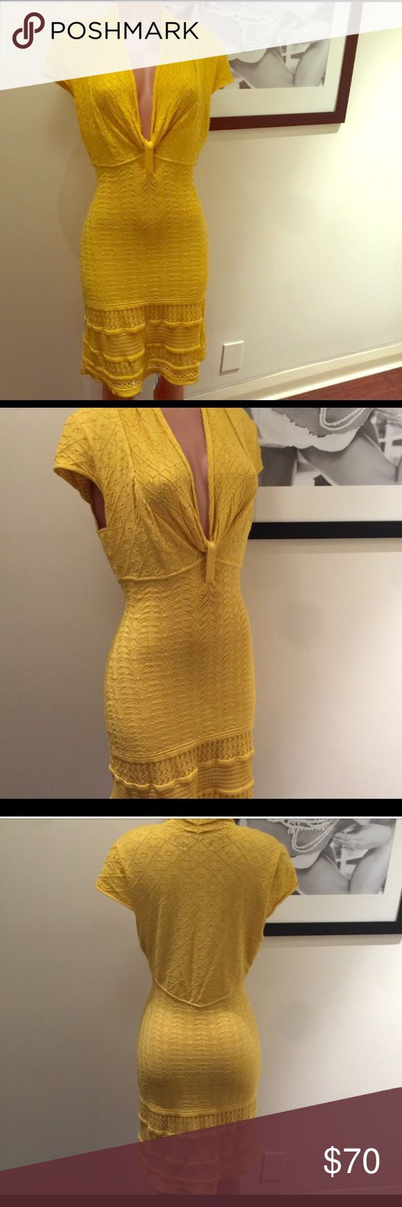 Amazing Catherine Malandrino dress Catherine Malandrino dress. NWOT absolutely amazing yellow sweater dress.  Makes your bod look amazing and such a great color. Great for spring. Catherine Malandrino Dresses