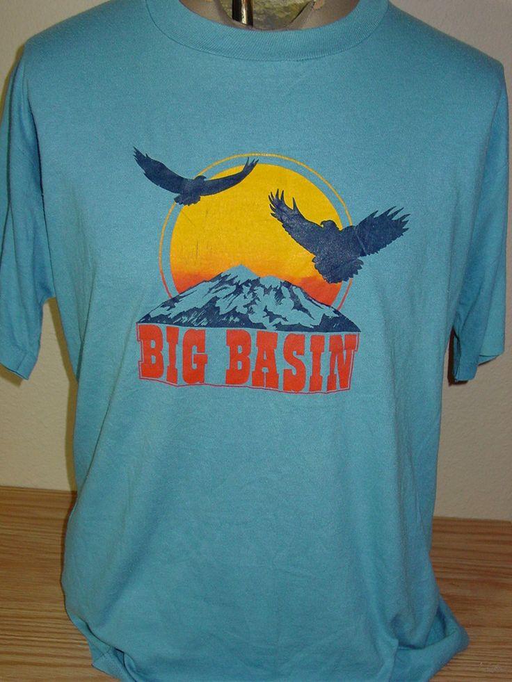 Vintage 1980s big basin tourist t shirt 50 50 by for Vintage t shirt company