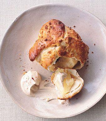baked apple, raisin, + brown sugar dumplings • the bon appétit test kitchen • photo: kana okada