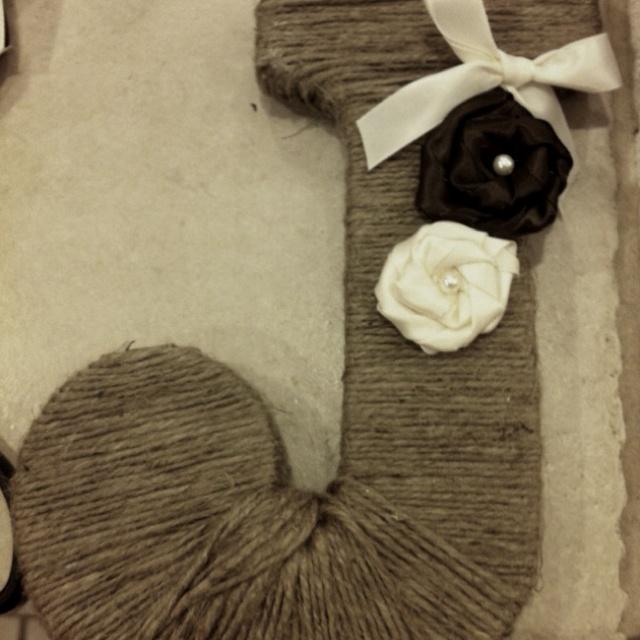 My twine wrapped initialGift Ideas, Twine Wraps, Wraps Initials