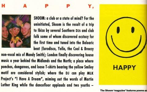 Shoom, DJ Danny Rampling's iconic club night.