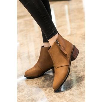 Botas cortas mujeres Martin botas otoño (Brown)