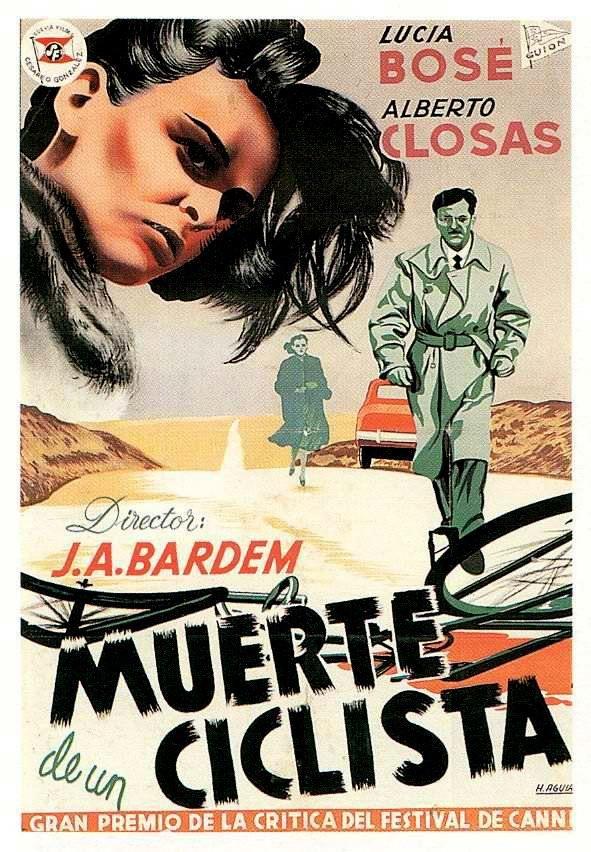 Muerte de un ciclista. España, 1955. Dir. Juan Antonio Bardem. Int. Lucía Bosé, Alberto Closas, Bruna Corrà, Carlos Casaravilla, Otello Toso, Alicia Romay.