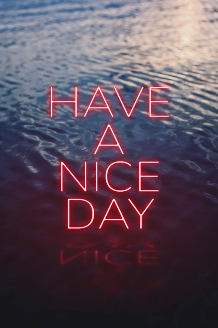 HAVE A NICE DAY word pink neon typography free image by