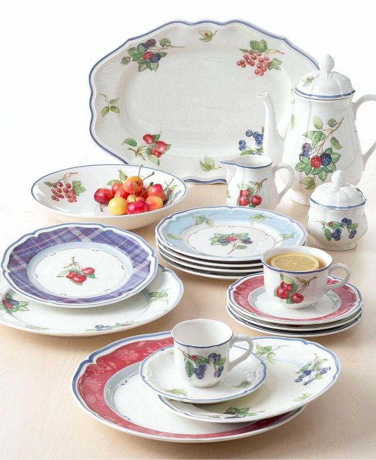 393 best dinnerware dish sets images on pinterest for Villeroy boch sale