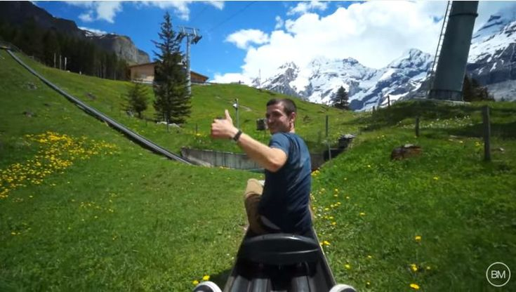 YouTuber Brice Milleson shared a video of him sliding down the alps riding a mountain coaster.