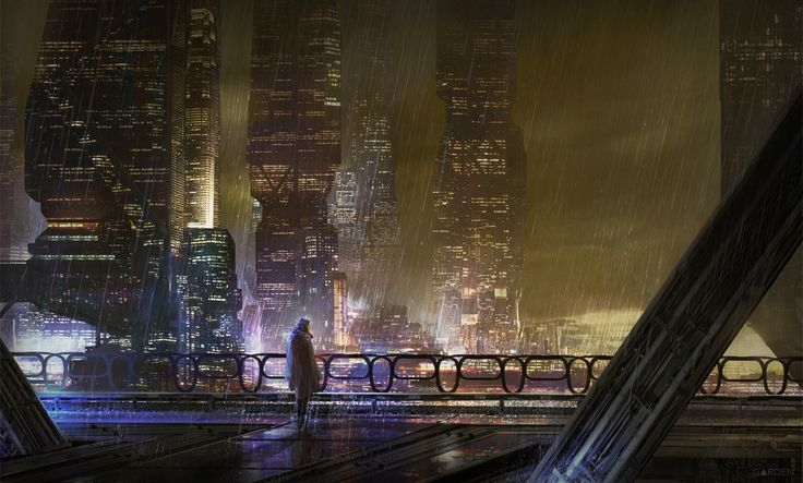 Sci Fi City, Tom Garden on ArtStation at https://www.artstation.com/artwork/mmxoy