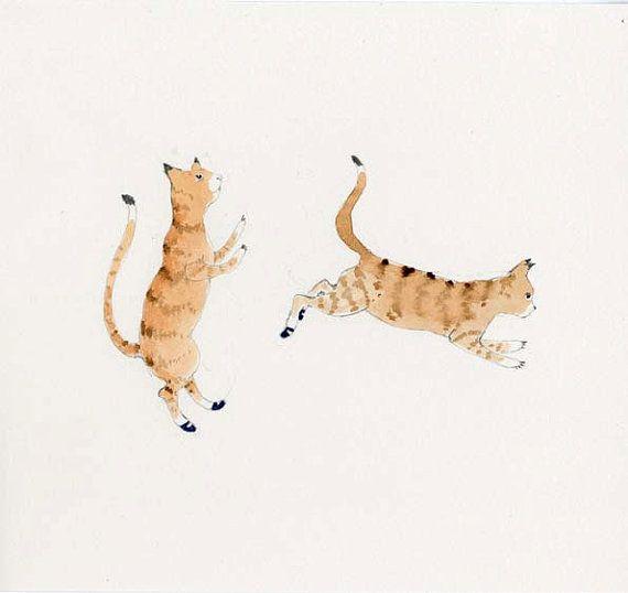 cats: Cat Art, Art Paintings, Paintings Cat, Watercolor Paintings, Art Mill, Cat Paintings, Cat 8 5 X8, Cat 85X8, Art En