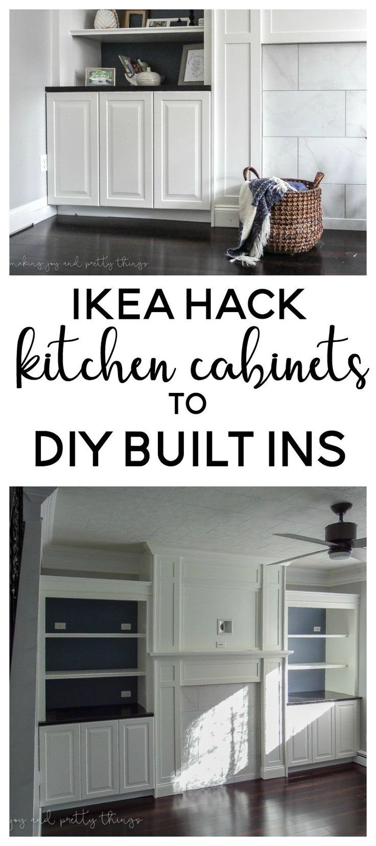 Ikea Hack Kitchen Cabinets Turned Built Ins Ikea Hack Living Room Living Room Built Ins Ikea Hack Kitchen