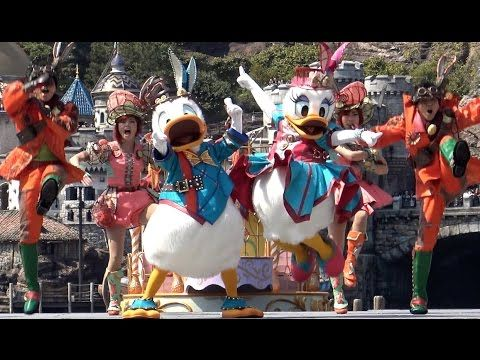 Tokyo DisneySEA Easter event, character show  Fashinable Easter steam punk dance with Donald and Daisy.  ドナルドとデイジーの元気いっぱいスチームパンクダンス♪ 東京 ディズニーシー ファッショナブルイースター 2017