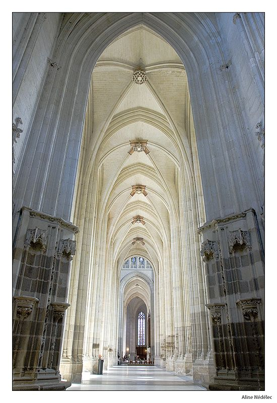 L'immense et majestueuse nef de La Cathédrale Saint Pierre et Saint Paul - Nantes (44) France