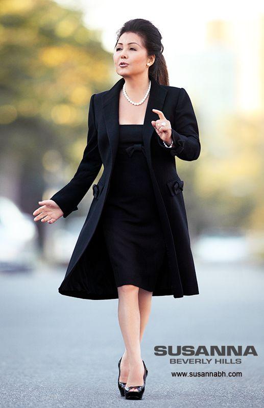 haute couture business attire for women this black winter. Black Bedroom Furniture Sets. Home Design Ideas