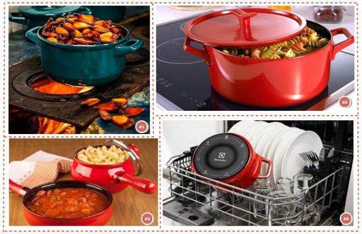 Resistência das panelas de cerâmica: no fogão a lenha, na lava-louça e (no caso das panelas Electrolux Infinite Amplicook) no cooktop por indução