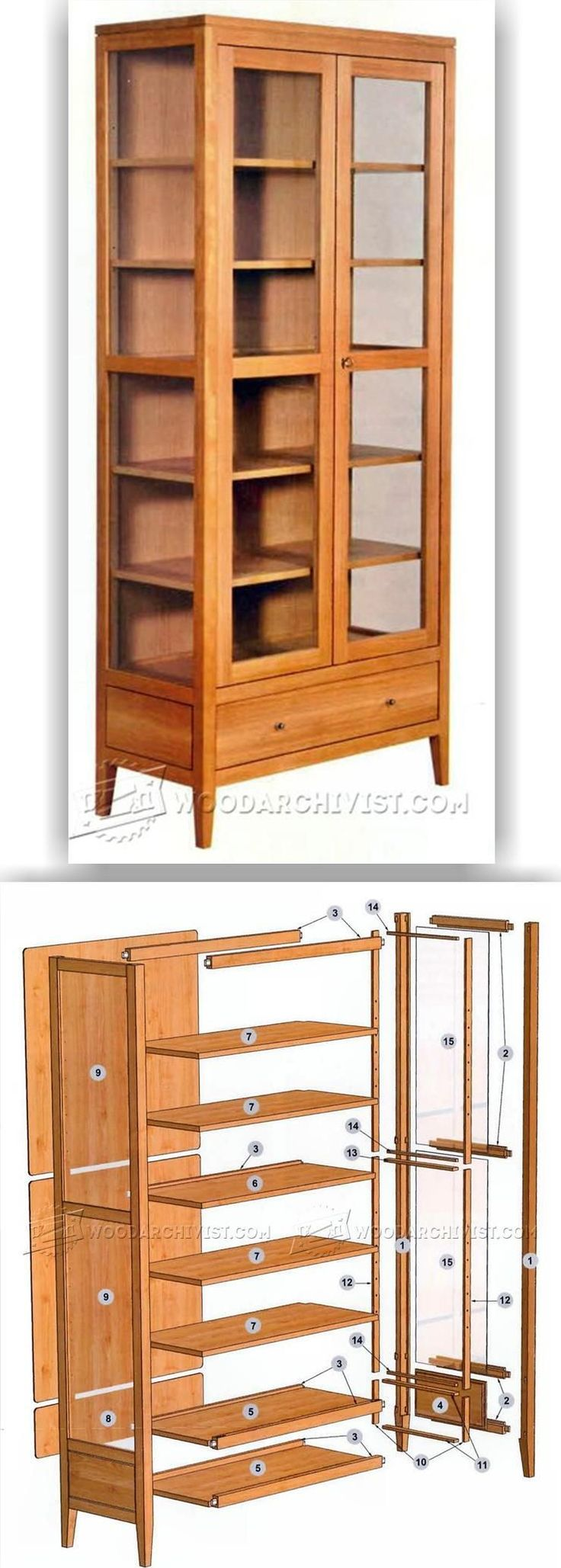 Showcase Cabinet Plans - Furniture Plans and Projects | WoodArchivist.com