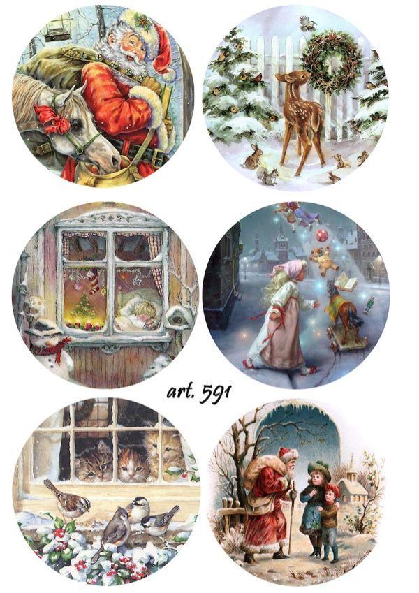 Вот еще сегодня нашла несколько картинок для новогодних шаров и не только , Времени все меньше , а сделать нужно так много ...Удачи в творчестве)