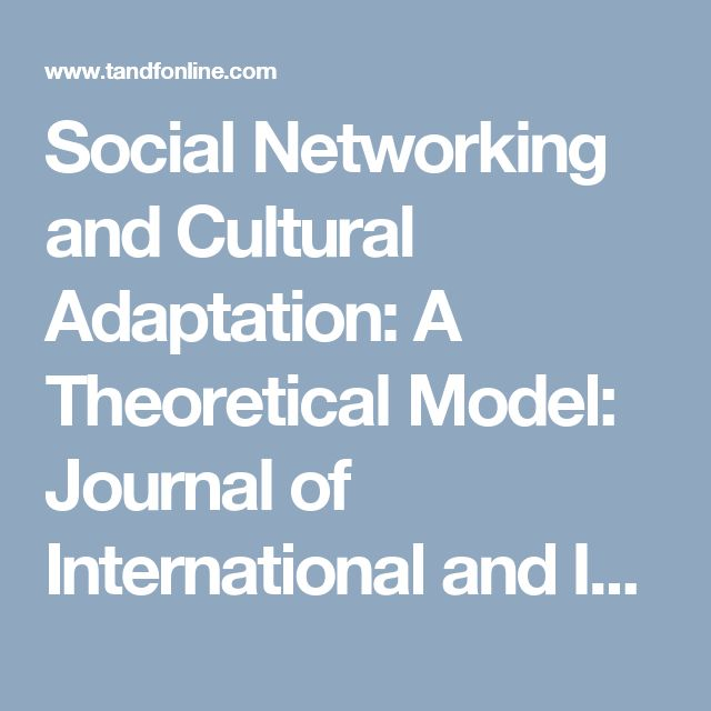 Subject Matter - Social Networking and Cross Cultural Adaptation