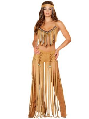 Women's Sexy Cherokee Hottie Costume | Indians Costumes