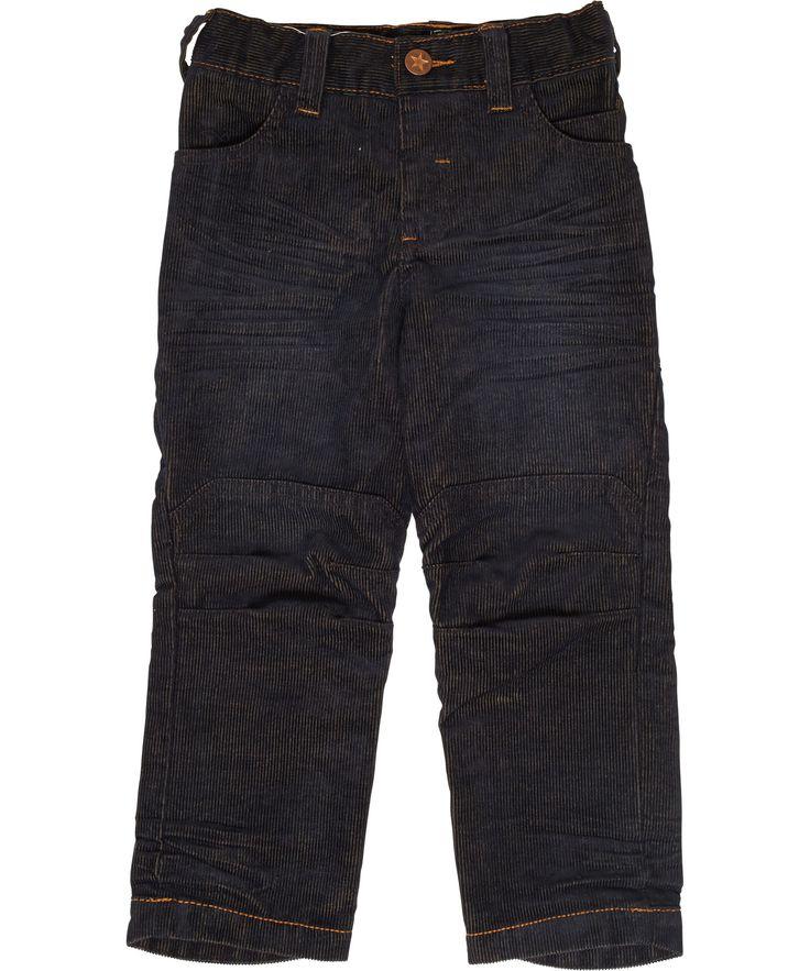 Molo fantastische blauwe geribde broek met een bruine schijn. molo.nl.emilea.be