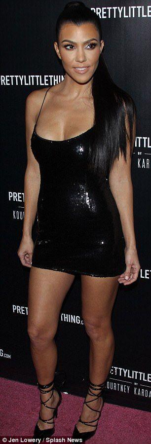 Kourtney Kardashian takes plunge in very revealing dress   Daily Mail Online