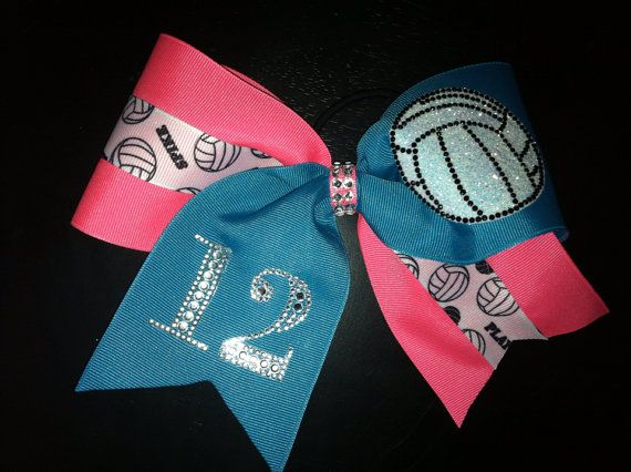 Sports theme Fan Cheer Bow on Etsy, $18.00