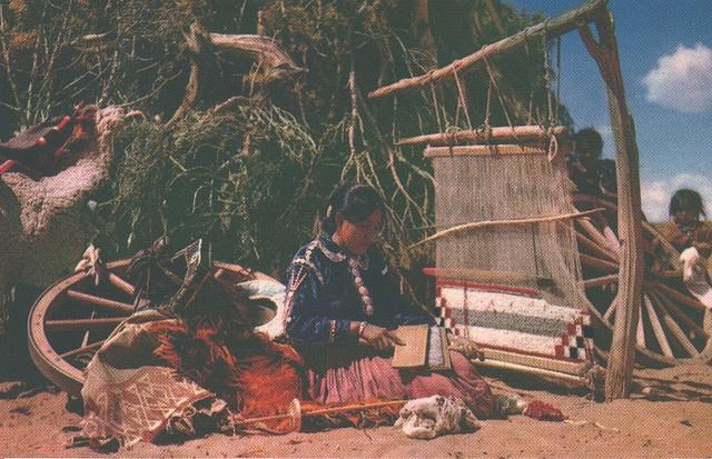 US - Navajo Rug Weaver by quiet_place, via Flickr