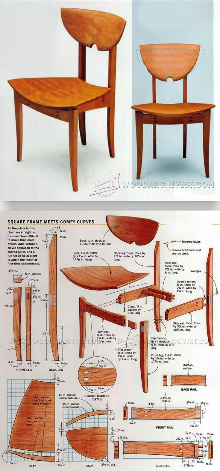 Cafe Style Chair Plans - Furniture Plans and Projects | WoodArchivist.com
