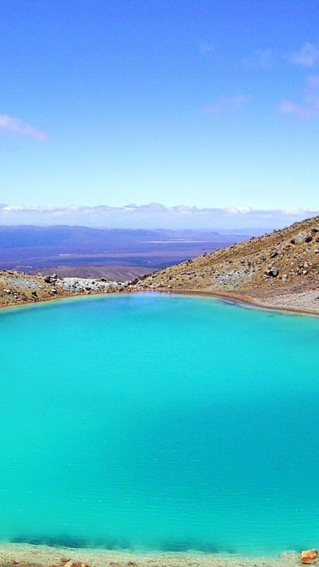 Mount Tongariro, Tongariro National Park, New Zealand. Pretty blue