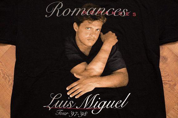 1f798d30e Luis Miguel Romances T-Shirt, XL, 1997-98 Concert Tour, Vintage ...