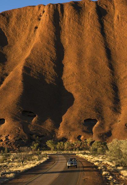 Uluru's (Ayers Rock's) southwest face, Uluru-kata Tjuta National Park, Northern Territory, Australia by Bethune Carmichael