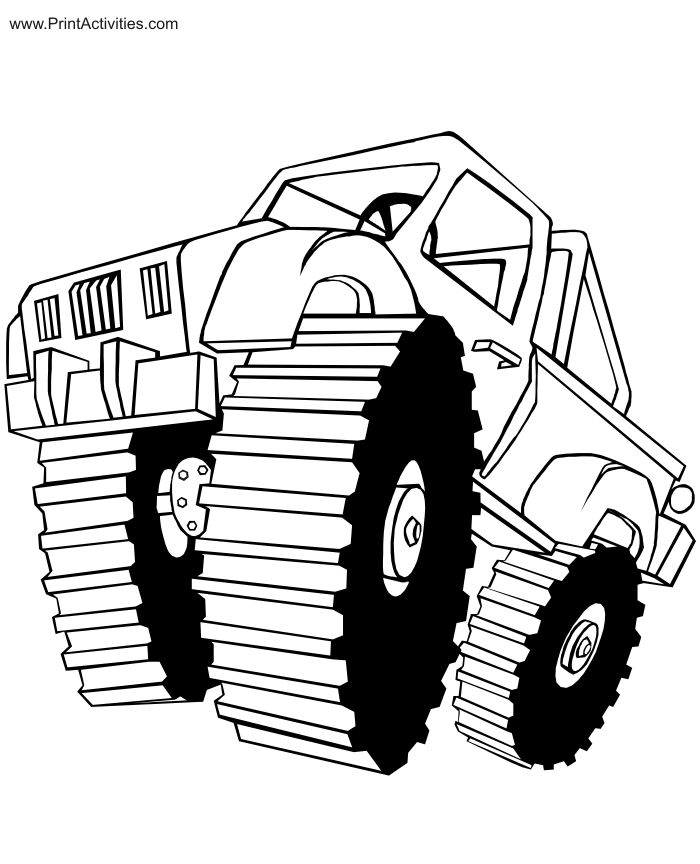 monster truck coloring page free coloring sheet - Monster Truck Coloring Pages Free