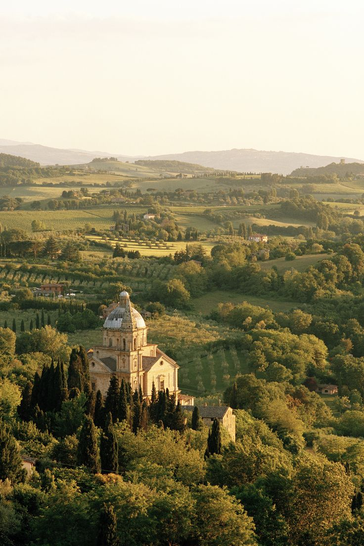 This Renaissance hill town is pretty idyllic no matter where you are, but for some of he most picture-perfect views of the Tuscan countryside, head to the Church of San Biagio located just below the city walls.