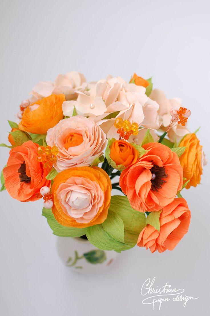 DIY paper flowers for an alternative bridal bouquet. Flori de hârtie- O alternativă a buchetului clasic de mireasă | Nuntă în grădină