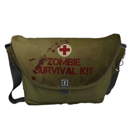 Zombie survival kit messenger bag review