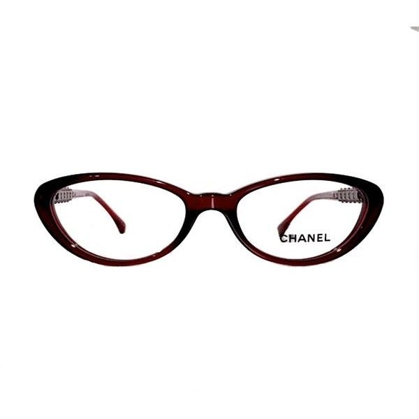 Ch 3220 (color) Beautiful Red Chanel Cat Eye Optical Glasses -  Free 3... ($194) ❤ liked on Polyvore featuring accessories, eyewear, eyeglasses, cat-eye glasses, red cat eye glasses, cat eye eyeglasses, red eyeglasses and red eye glasses