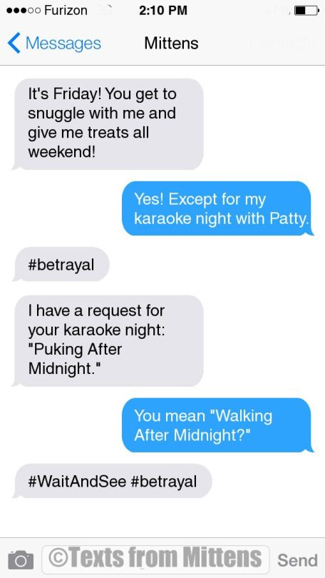 NEW Daily Mittens: The Karaoke Edition  More Mittens: http://textsfrommittens.com/  Order Mittens' book: http://amzn.to/1BVvMmB