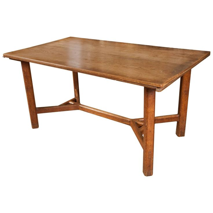 Cotswold School Arts and Crafts Oak Table | From a unique collection of antique and modern center tables at https://www.1stdibs.com/furniture/tables/center-tables/