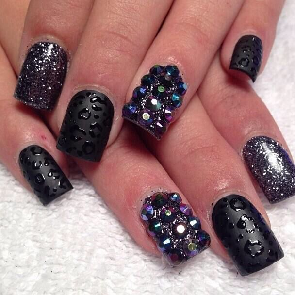 55 best nail art images on pinterest nail art black and white glittery badass all in one nailart naildesign prinsesfo Image collections