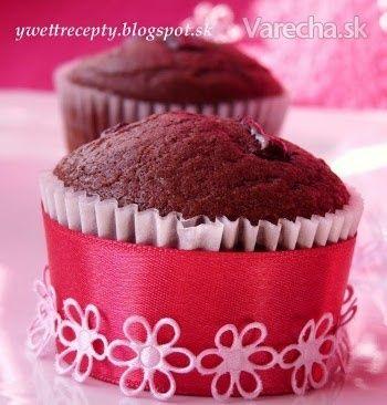 Čokoládové muffiny (fotorecept)