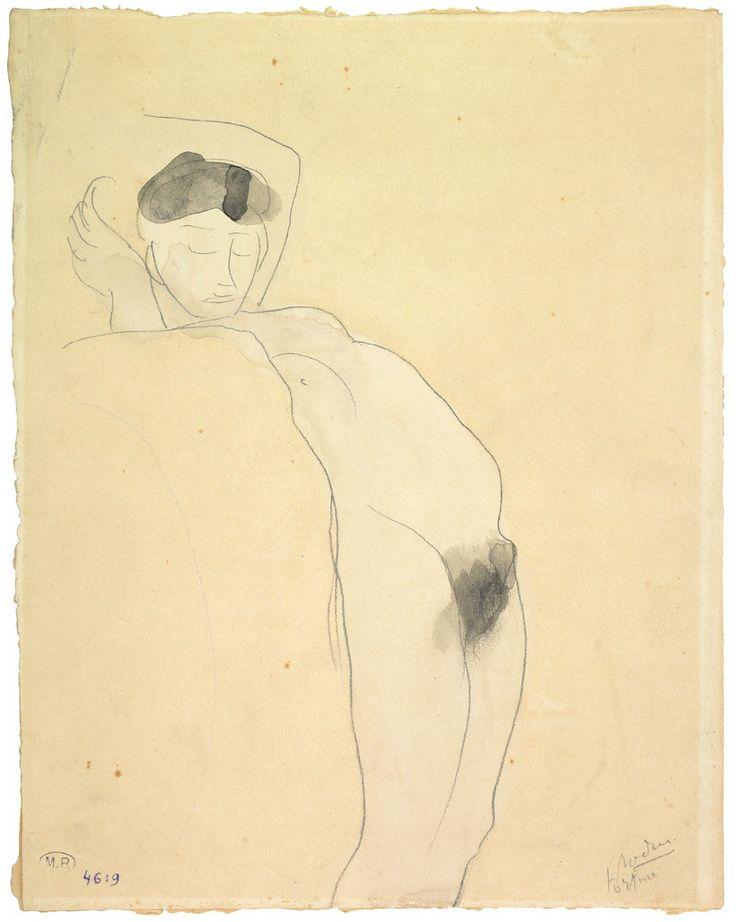 Auguste Rodin, Torture, avant 1903 (D. 4619), crayon au graphite (trait), encre noire (lavis) et aquarelle sur papier vélin filigrané 32 x 25,4 cm. annoté et signé au crayon au graphite, en bas à droite : torture – Rodin