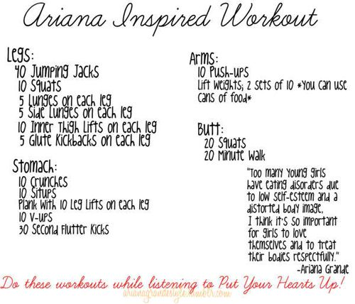 ariana grande inspired workout