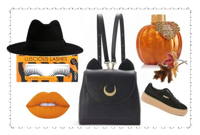 """pumpkin"" by dreaaaman on Polyvore featuring Lime Crime, Anne Klein, Puma and Yves Saint Laurent"
