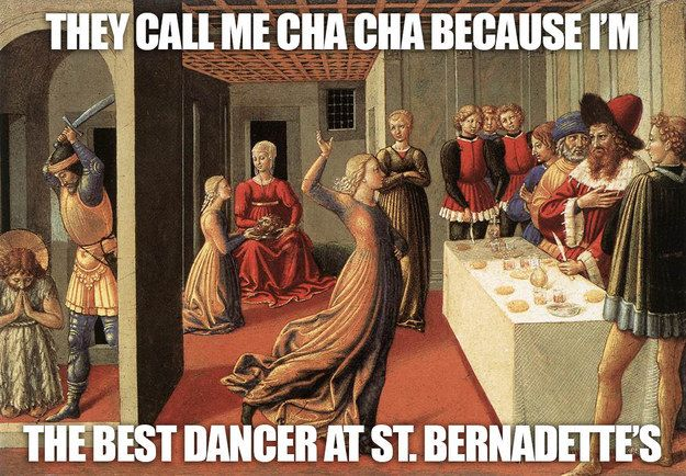 """The Dance of Salome by Benozzo Gozzoli 