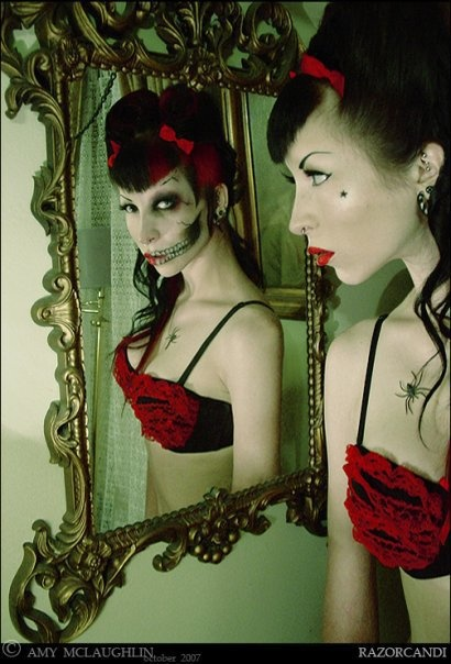 72 best zombie bike ride images on pinterest halloween for Mirror zombie girl
