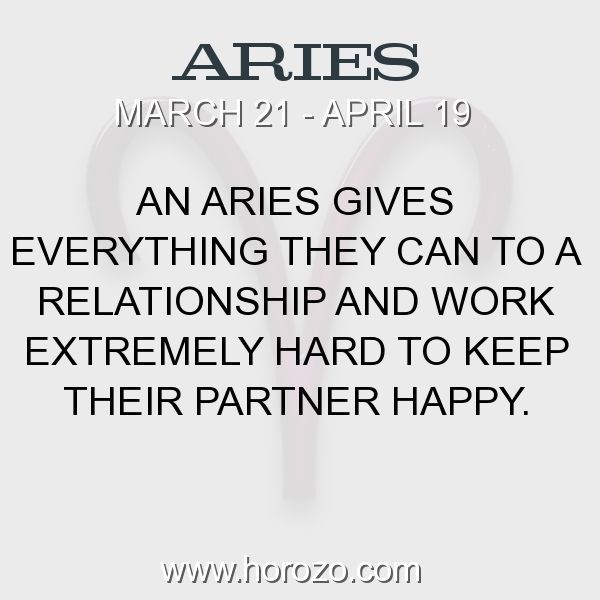 Fact about Aries: An Aries gives everything they can to a relationship and... #aries, #ariesfact, #zodiac. More info here: https://www.horozo.com/blog/an-aries-gives-everything-they-can-to-a-relationship-and/ Astrology dating site: https://www.horozo.com