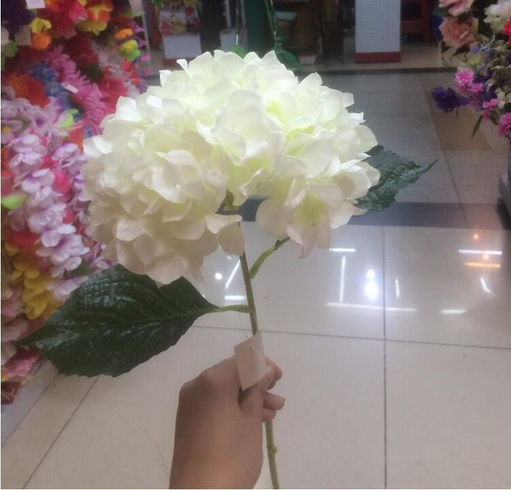 Buy Best And Latest Brand Artificial Hydrangea Flower 80cm/31.5 Fake Silk Single Hydrangeas For Wedding Centerpieces Home Party Decorative Flowers Sf015 | Dhgate.Com