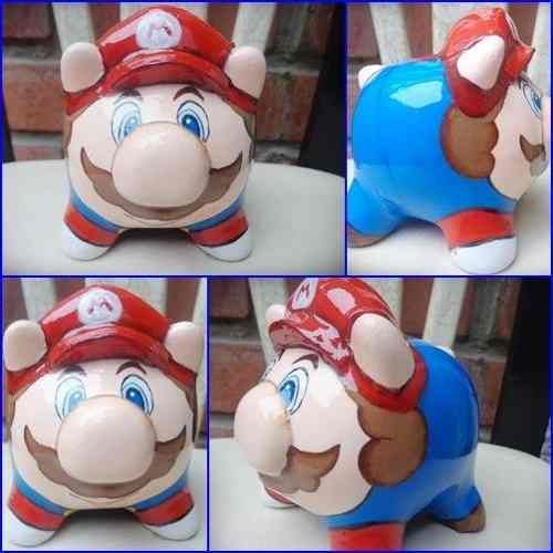 alcancias chanchitos para regalo mario